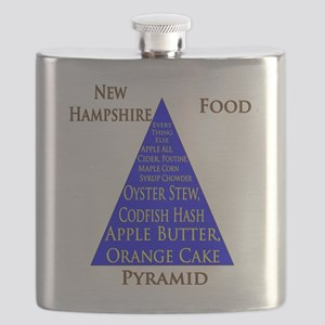 New Hampshire Food Pyramid Flask
