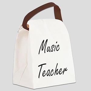 Music Teacher Artistic Job Design Canvas Lunch Bag
