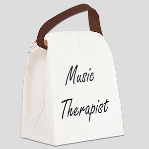 Music Therapist Artistic Job Desi Canvas Lunch Bag