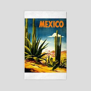 Vintage Mexico Travel ~ Village Area Rug