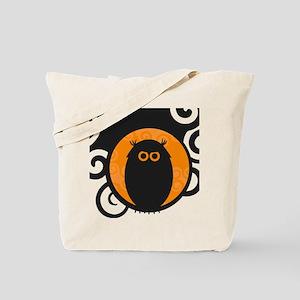 Black Owl Silhouette Illustration Tote Bag