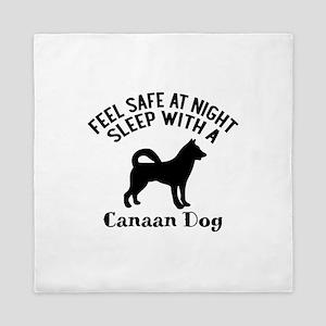Sleep With Canaan Dog Designs Queen Duvet