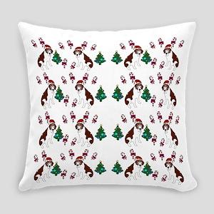 Christmas Saint Bernard dog Everyday Pillow