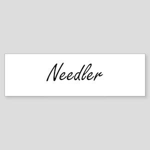Needler Artistic Job Design Bumper Sticker