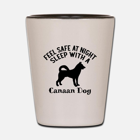 Sleep With Canaan Dog Designs Shot Glass