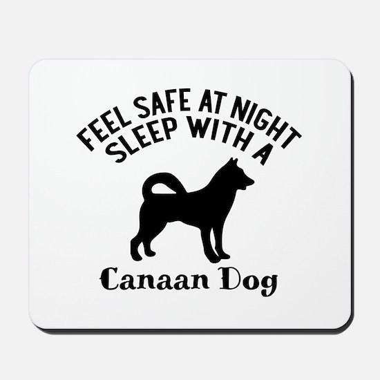 Sleep With Canaan Dog Designs Mousepad