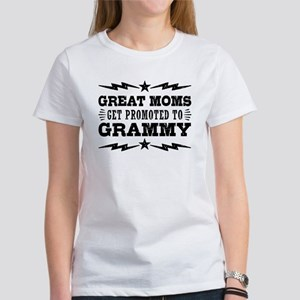 Great Moms Get Promoted To Grammy Women's T-Shirt