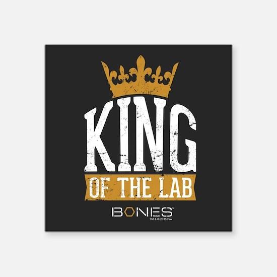 "Bones King of the Lab Square Sticker 3"" x 3"""