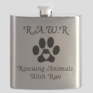 R.A.W.R Logo Flask