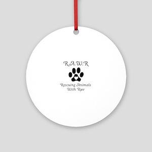 R.A.W.R Logo Round Ornament