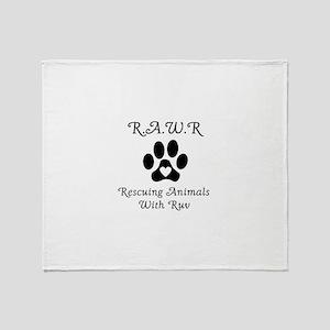R.A.W.R Logo Throw Blanket