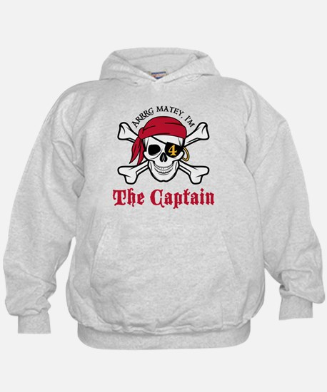 Pirate Birthday Age 4 Hoodie