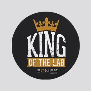 Bones King of the Lab Button