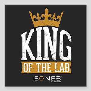 "Bones King of the Lab Square Car Magnet 3"" x 3"""