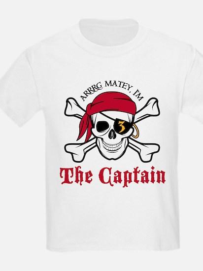 Pirate Birthday Age 3 T-Shirt