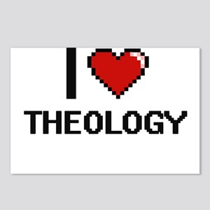 I love Theology digital d Postcards (Package of 8)