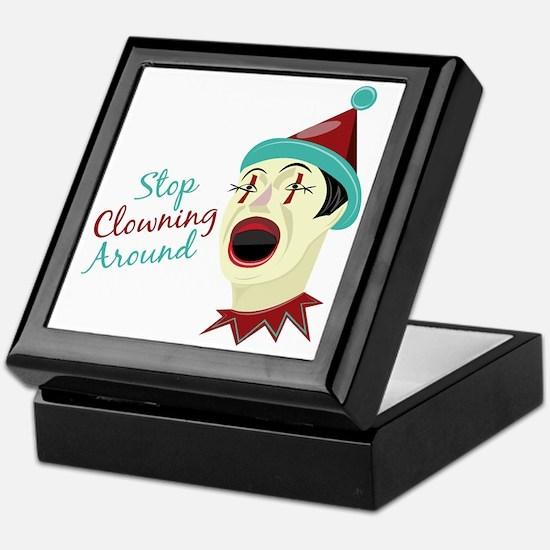 Clowning Around Keepsake Box