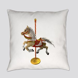 Palomino Carousel Horse 1 Everyday Pillow