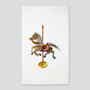 Palomino Carousel Horse 1 Area Rug