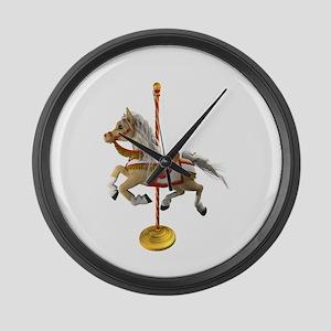 Palomino Carousel Horse 1 Large Wall Clock