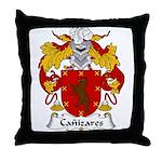 Canizares Family Crest Throw Pillow