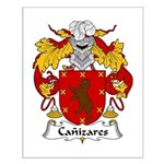 Canizares Family Crest Small Poster
