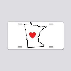 I Love Minnesota Aluminum License Plate