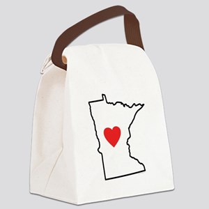 I Love Minnesota Canvas Lunch Bag