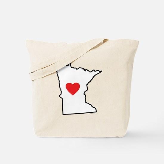 I Love Minnesota Tote Bag