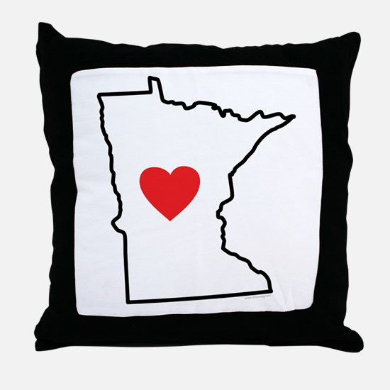 I Love Minnesota Throw Pillow