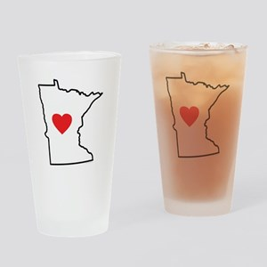 I Love Minnesota Drinking Glass