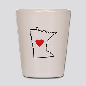 I Love Minnesota Shot Glass