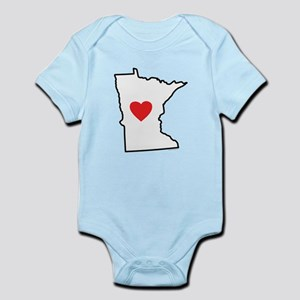 I Love Minnesota Infant Bodysuit