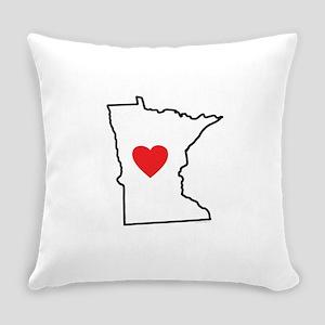 I Love Minnesota Everyday Pillow