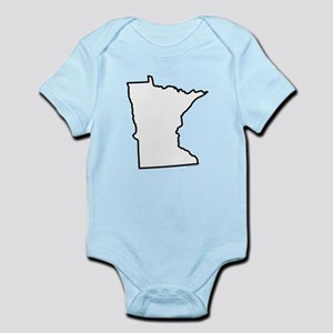 Minnesota State Outline Infant Bodysuit
