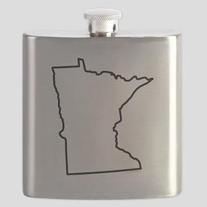 Minnesota State Outline Flask