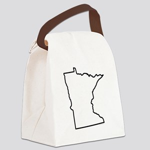 Minnesota State Outline Canvas Lunch Bag