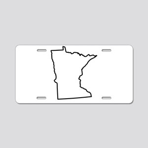 Minnesota State Outline Aluminum License Plate