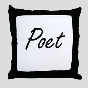 Poet Artistic Job Design Throw Pillow