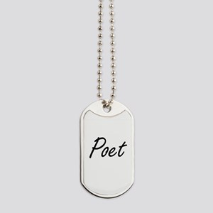Poet Artistic Job Design Dog Tags
