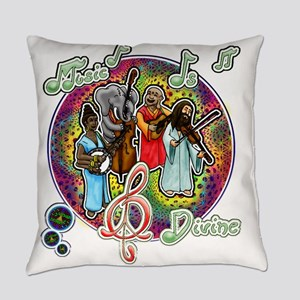 Music is Divine Everyday Pillow