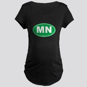 Minnesota MN Euro Oval Maternity Dark T-Shirt