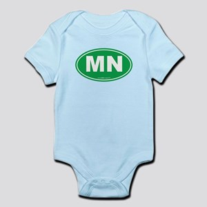 Minnesota MN Euro Oval Infant Bodysuit