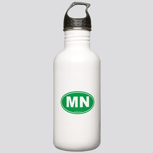 Minnesota MN Euro Oval Stainless Water Bottle 1.0L