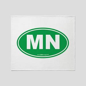 Minnesota MN Euro Oval Throw Blanket