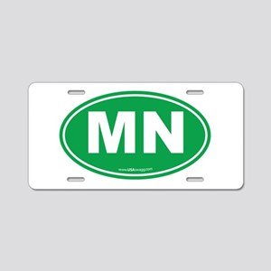 Minnesota MN Euro Oval Aluminum License Plate