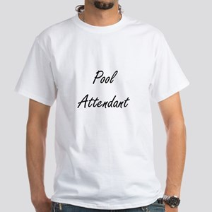 Pool Attendant Artistic Job Design T-Shirt