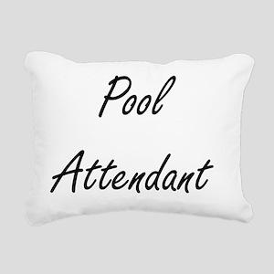 Pool Attendant Artistic Rectangular Canvas Pillow