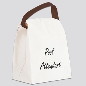 Pool Attendant Artistic Job Desig Canvas Lunch Bag