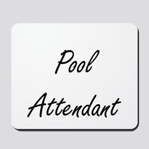 Pool Attendant Artistic Job Design Mousepad